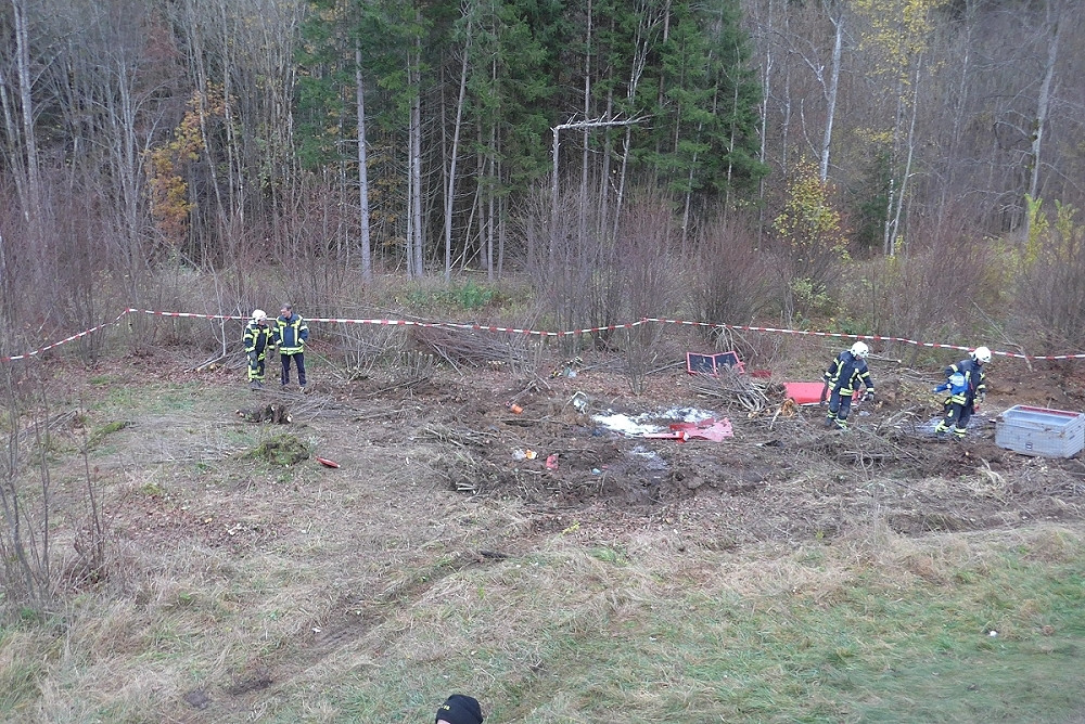Die Bergung des verunfallten Feuerwehrkrans ist abgeschlossen