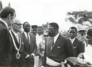 Oberbürgermeister Kalbfell mit Vertretern der Stadt Bouaké beim ersten Reutlinger Delegations-Besuch in Bouaké